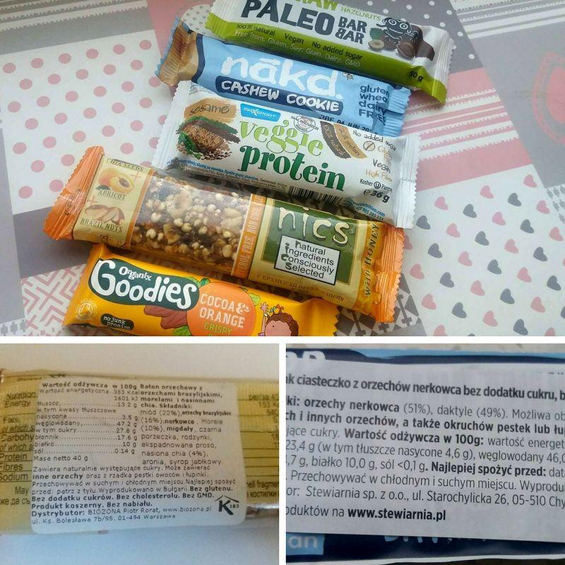 Zdrowe batoniki bez dodatku cukrów