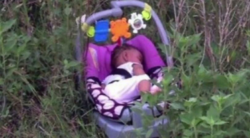 8-miesięczna dziewczynka została porzucona w krzakach przy jednej z dróg