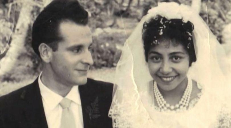 Yvonne i Robert podczas ślubu