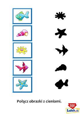 """Naucz dziecko dopasowywania kształtów z grą """"Obrazki i cienie"""""""