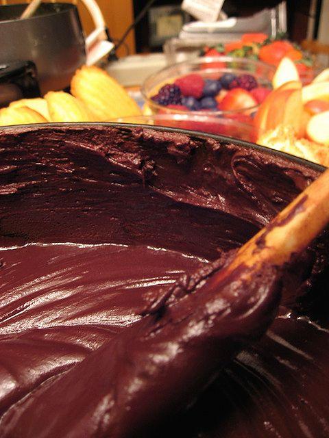 Roztopiona czekolada