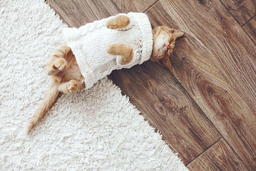 Zniszczony sweterek można też inaczej wykorzystać