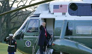 USA. Donald Trump opuścił Biały Dom
