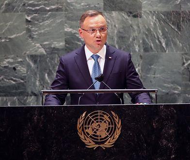 Andrzej Duda na 76. sesji ONZ. Opozycja komentuje
