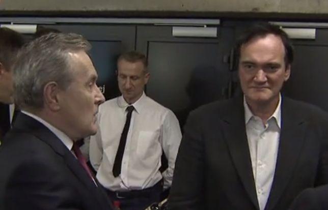 Minister kultury Piotr Gliński i reżyser Quentin Tarantino