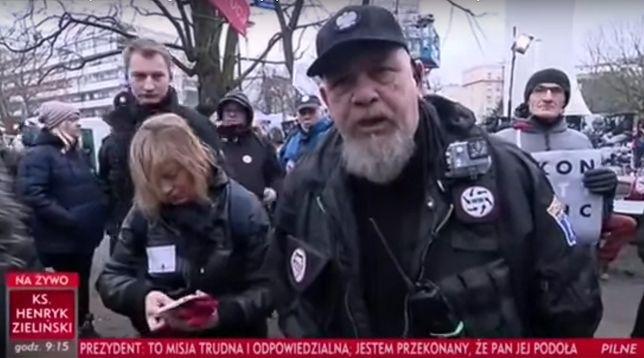 Dziennikarze TVP relacjonowali wydarzenia przed Sejmem.
