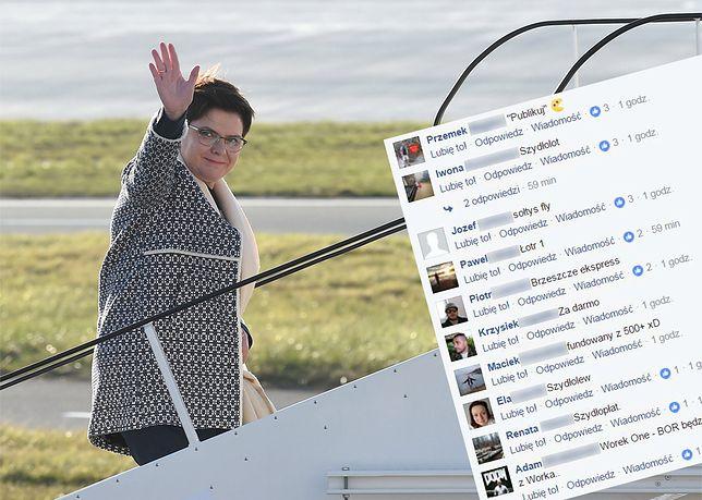 """""""Szydłolot"""", """"Samolot +"""" czy """"Beatrix"""". Internauci wybierają nazwę dla samolotu premier Szydło"""