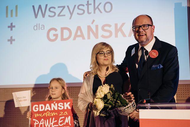 Magdalena Adamowicz z mężem Pawłem