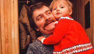 Lech Wałęsa z córką Magdaleną