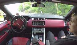 Range Rover Sport sterowany smartfonem