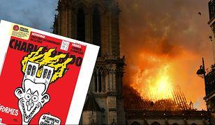 """Katedra Notre Dame. Jest nowa okładka """"Charlie Hebdo"""""""