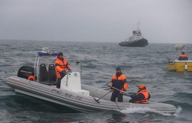 Akcja wydobywania ciał ofiar katastrofy Tu-154, który rozbił się na Morzu Czarnym