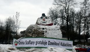 Bałwan był podziękowaniem dla Dawida Kubackiego