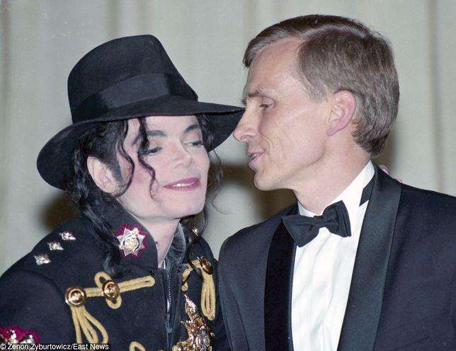 Michael Jackson i Marcin Święcicki w Warszawie