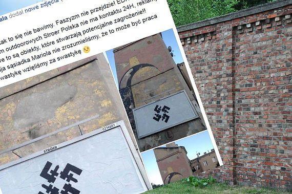"""Skandal dzień przed rocznicą Powstania Warszawskiego: nielegalny billboard. """"To karalne"""""""