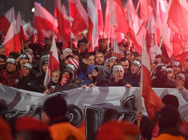 Warszawa. Marsz Niepodległości 11 listopada 2018 r.