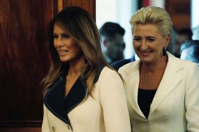 Melania Trump i Agata Duda miała kilkakrotnie okazję porozmawiać