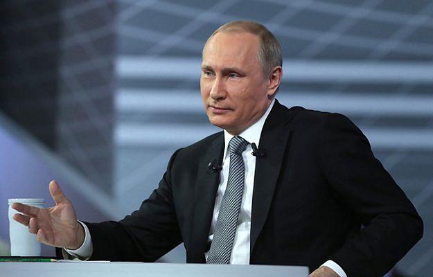 Prezydent Władimir Putin podczas wideokonferencji z obywatelami Rosji