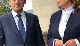 Donald Tusk i Małgorzata Kidawa-Błońska w Brukseli, tuż przed wyborami parlamentarnymi 2019
