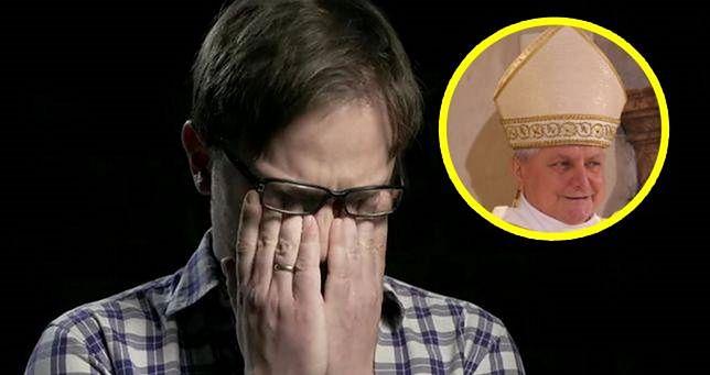 """W filmie """"Zabawa w chowanego"""" kluczową rolę odkrywa biskup Edward Janiak."""