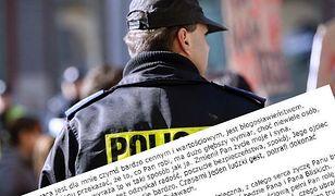 Policjant otrzymał podziękowania