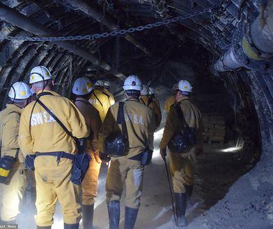 Górnicy w kopalni Zofiówka