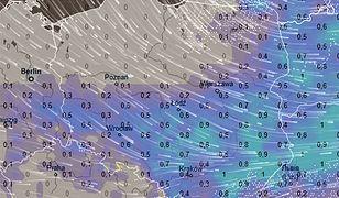 Obecne prognozy przewidują, że w sylwestrowy wieczór strefa opadów przesunie się na południowy wschód