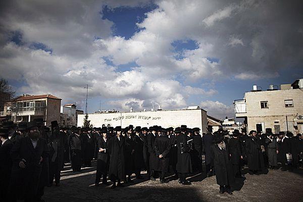 Protest ortodoksyjnych Żydów w Jerozolimie