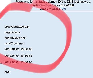 Ktoś wykupił domenę PrezydentSzydlo.pl. Transakcję wykonano 1 kwietnia