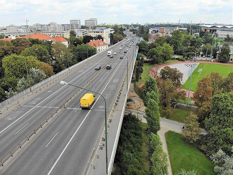 Warszawa. Od poniedziałku ruszyła przebudowa wiaduktów na Trasie Łazienkowskiej (Zarząd Miejskich Inwestycji Drogowych)