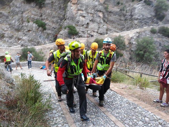 Na miejsce wypadku wysłani zostali strażacy, karabinierzy i ratownicy górscy