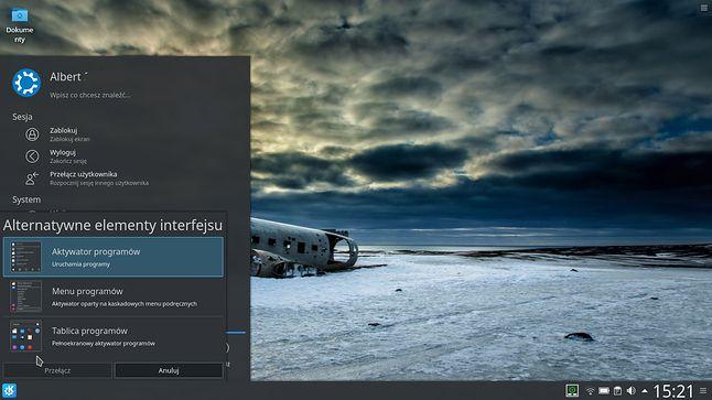 Każda część interfejsu ma swoją alternatywę