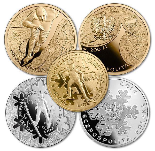 Złote, srebrne i brązowe -  Soczi na monetach