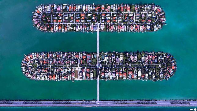 Palm Island i Hibiscus Island, Miami Beach, Floryda, USA