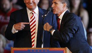 Donald Trump i Michael Flynn podczas kampanii wyborczej
