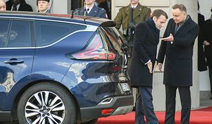 Emmanuel Macron i Andrzej Duda