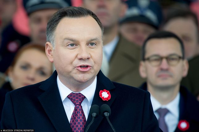 75. rocznica wyzwolenia Auschwitz. Prezydent i premier zbroją się na Putina. Tak obóz władzy szykuje się na wojnę informacyjną z Kremlem