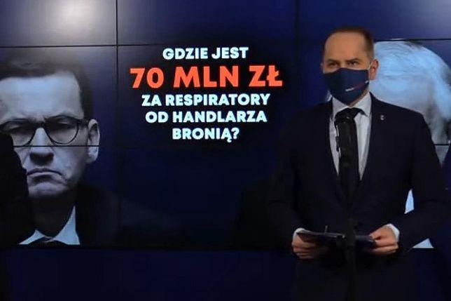 Zakup respiratorów od handlarza bronią. Dariusz Joński i Michał Szczerba przedstawiają nowe ustalenia