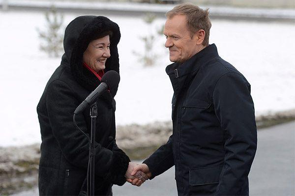 Hanna Gronkiewicz-Waltz i Donald Tusk