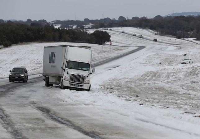 Zima spowodowała wiele spustoszeń w stanie Teksas