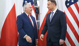 Rex Tillerson spotkał się z Dudą w styczniu tego roku w Warszawie