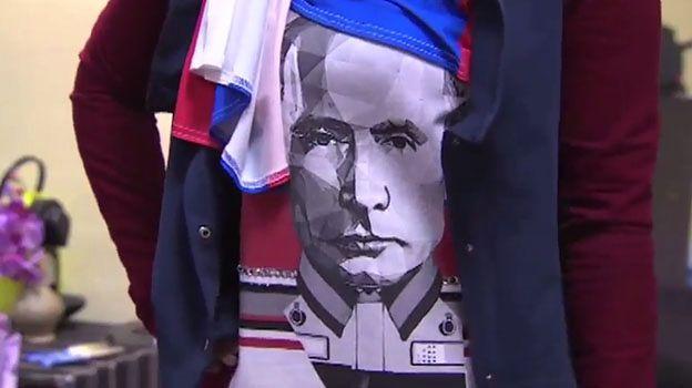 Podobizna Putina na hidżabach. Dla muzułmańskich patriotów