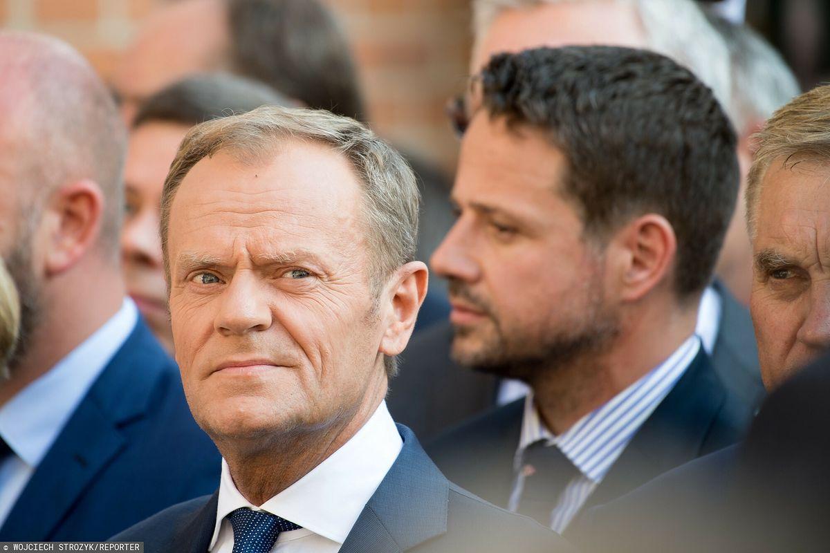 """Donald Tusk i Rafał Trzaskowski na spotkaniu. """"Nie ma Budki"""""""