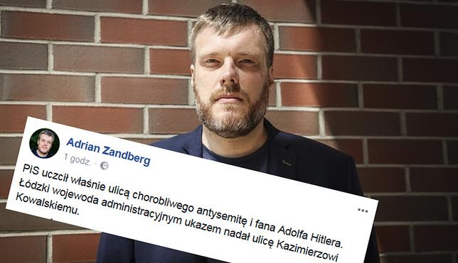 """W Łodzi będzie ulica człowieka, który """"chciał zetrzeć Żydów z powierzchni ziemi"""". Zandberg grzmi"""