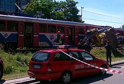 Pociąg uderzył w koparkę