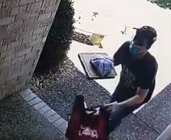 Zostawił pizzę pod drzwiami i... Tego się nie spodziewał. Dostawcę zamurowało