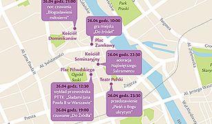 Kanonizacja Jana Pawła II - infografika