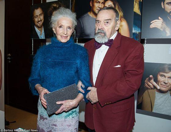 Helena Norowicz z mężem
