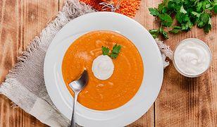 Zupa krem to idealny pomysł sycące i niskokaloryczne danie.