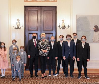 Rodzina Brodów w Pałacu Prezydenckim